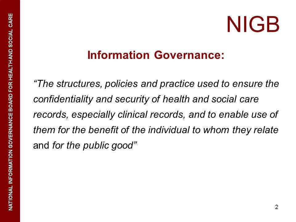 Information Governance: