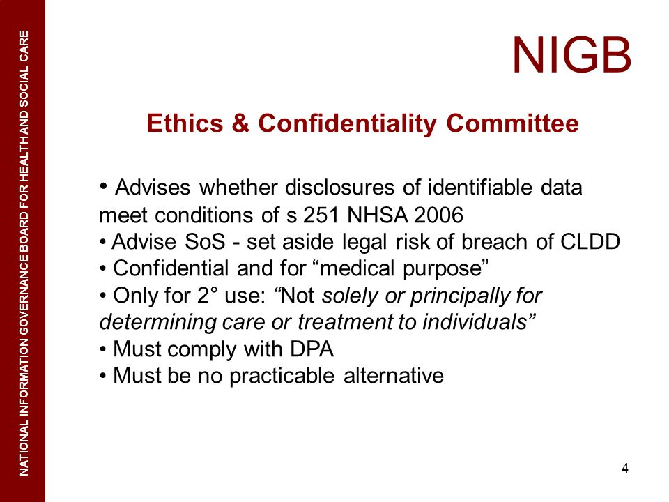 Ethics & Confidentiality Committee