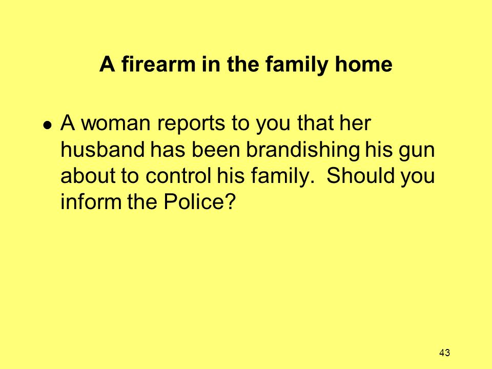 A firearm in the family home