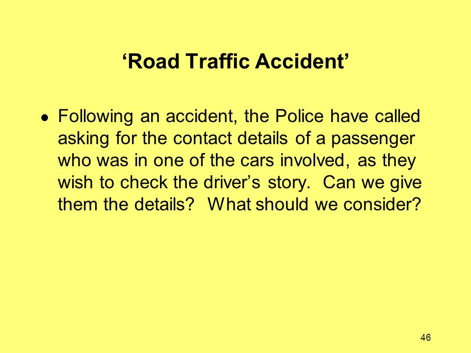 'Road Traffic Accident'