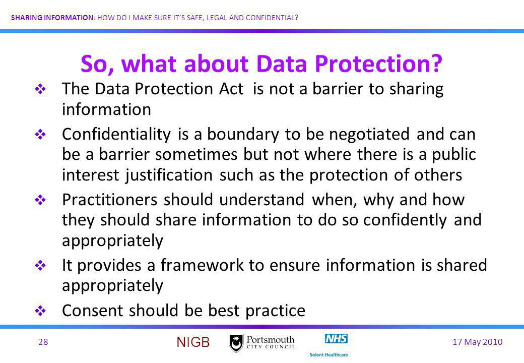 So, what about Data Protection