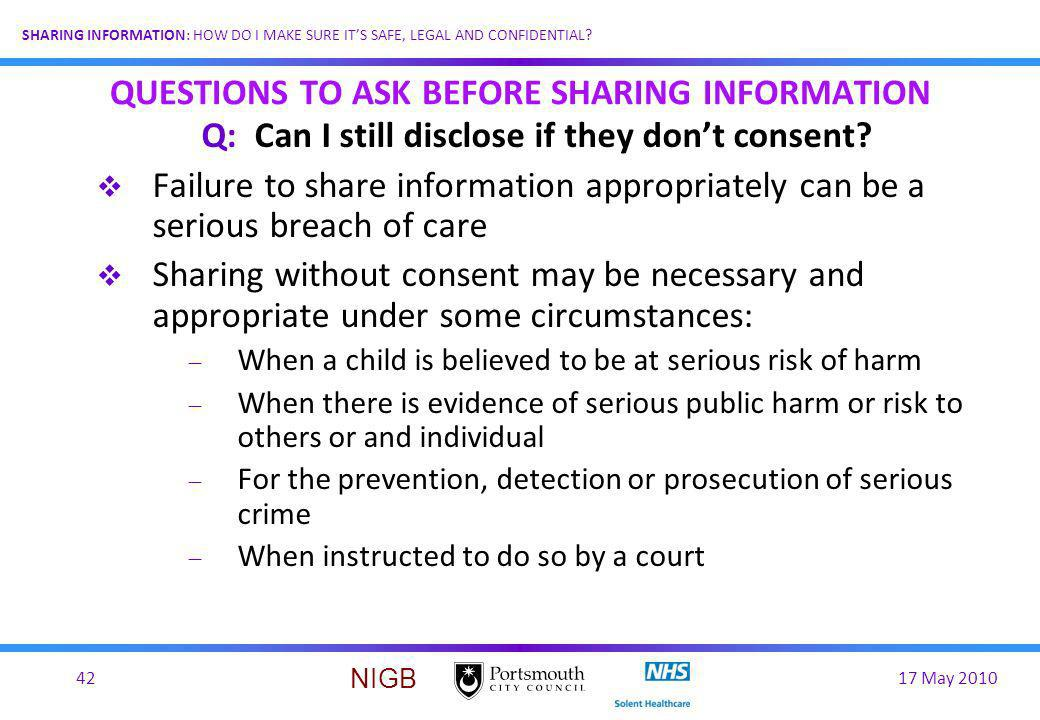 QUESTIONS TO ASK BEFORE SHARING INFORMATION