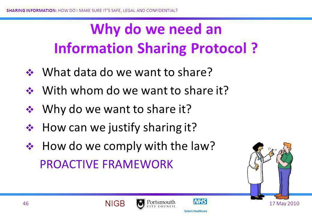Why do we need an Information Sharing Protocol