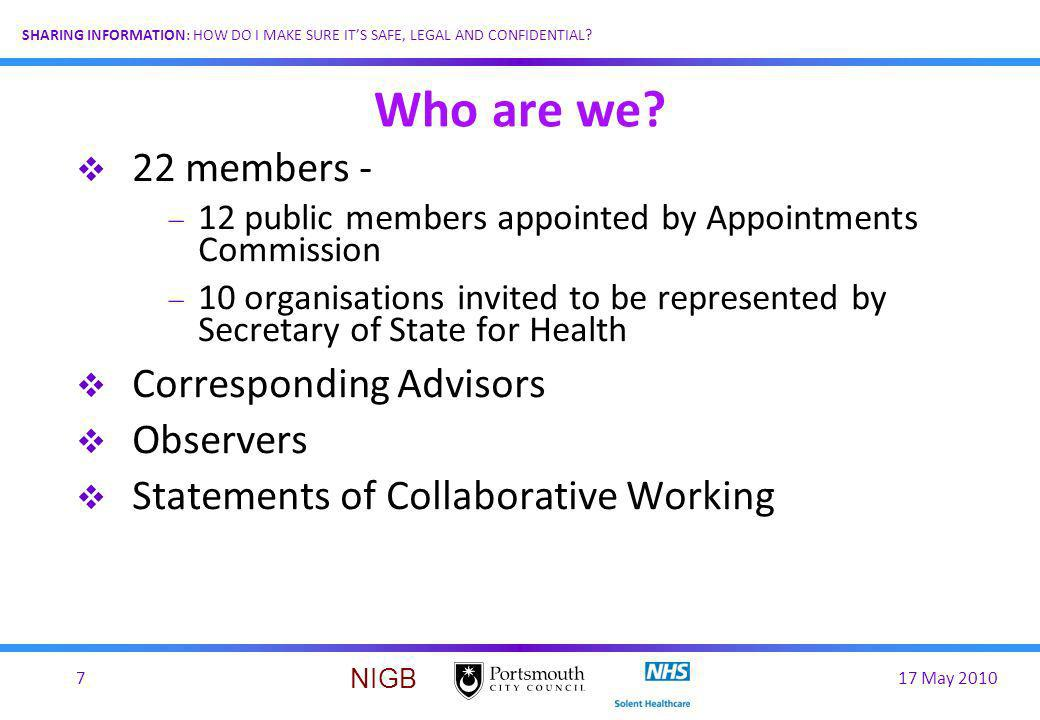 Who are we 22 members - Corresponding Advisors Observers