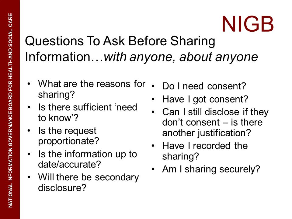 Questions To Ask Before Sharing Information…with anyone, about anyone