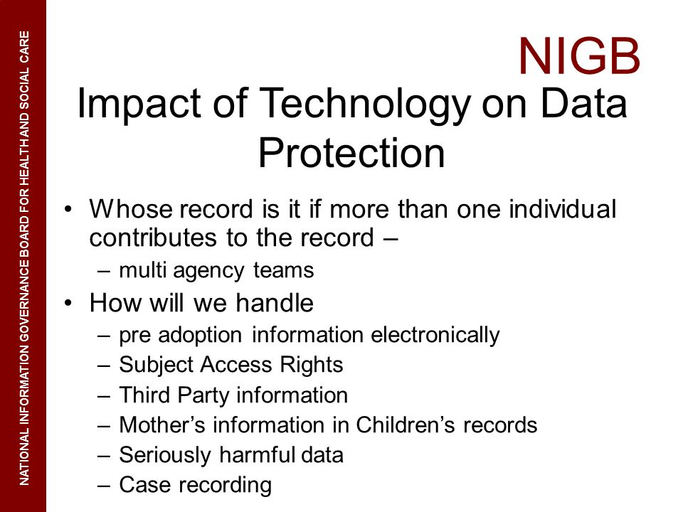 Impact of Technology on Data Protection