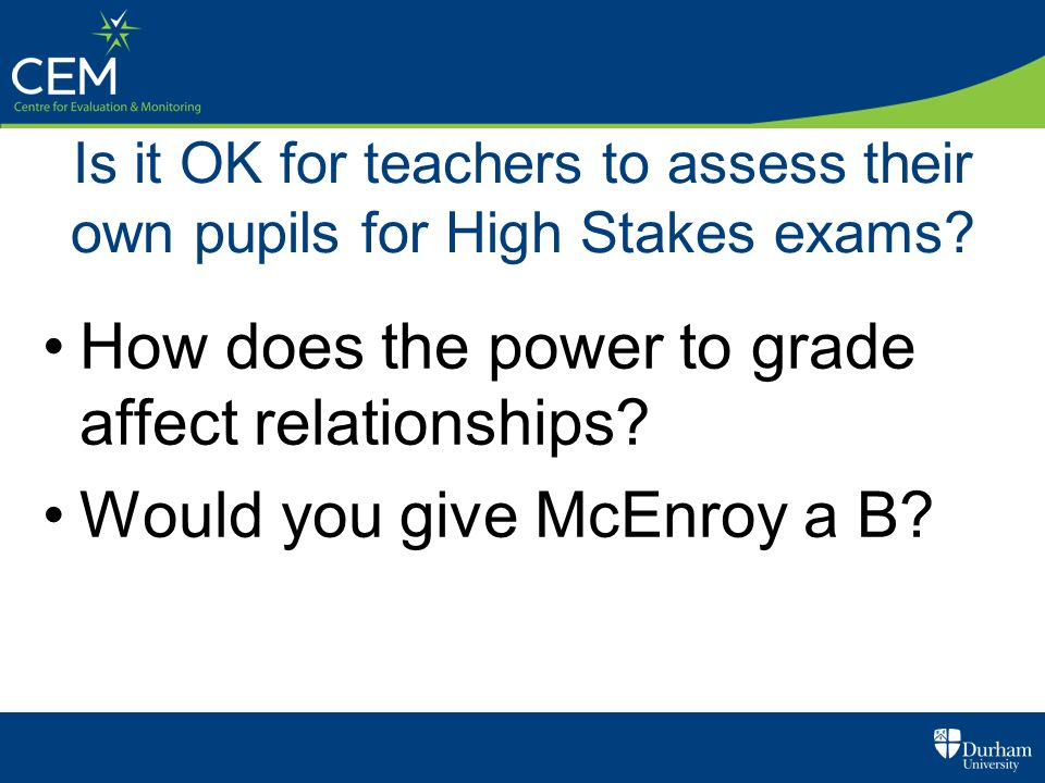 How does the power to grade affect relationships