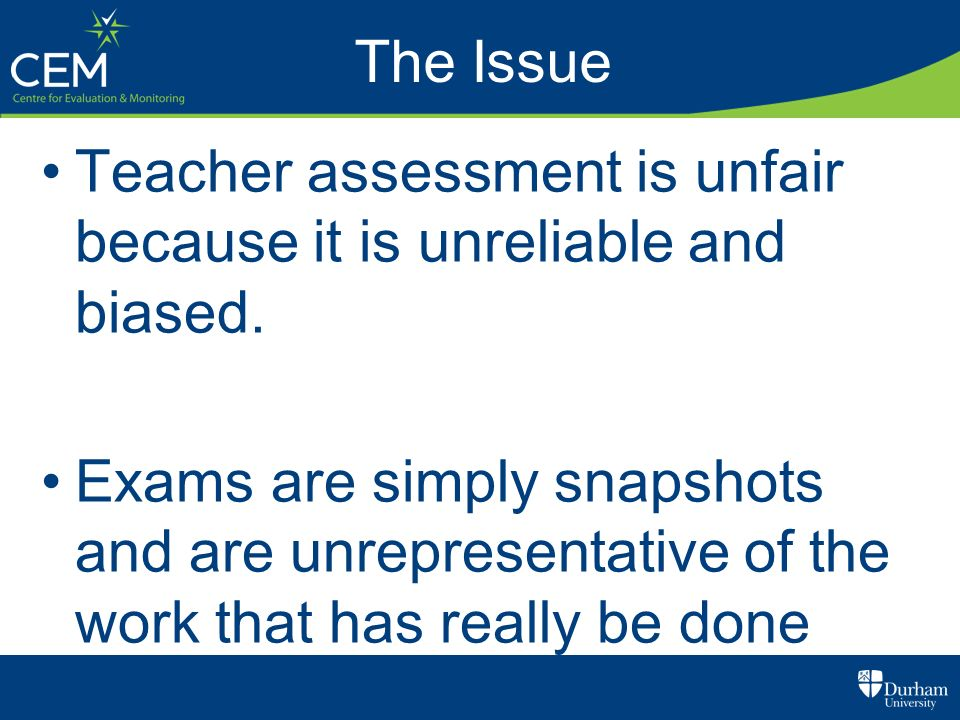 The IssueTeacher assessment is unfair because it is unreliable and biased.