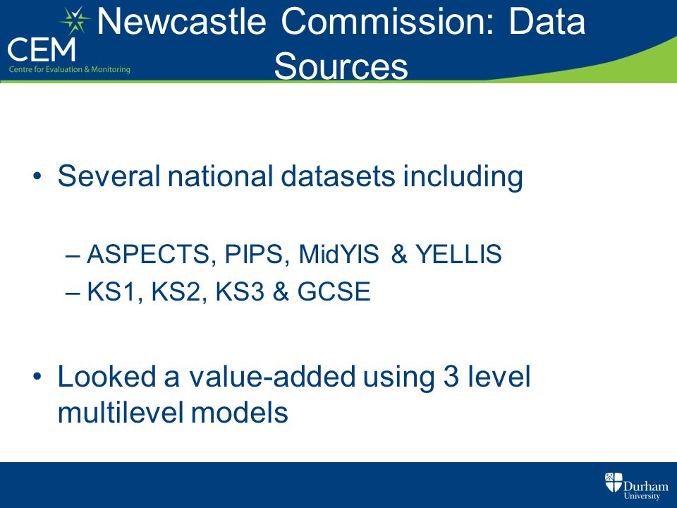 Newcastle Commission: Data Sources