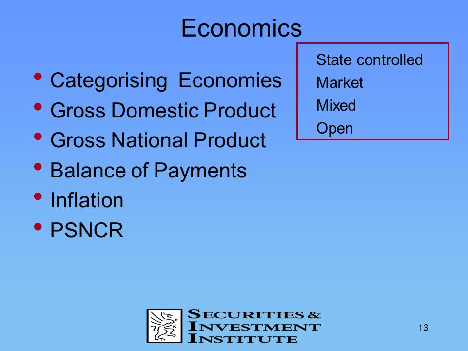 Economics Categorising Economies Gross Domestic Product