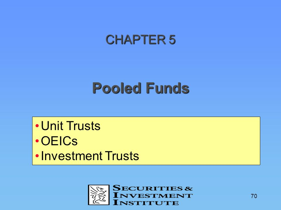CHAPTER 5 Pooled Funds Unit Trusts OEICs Investment Trusts