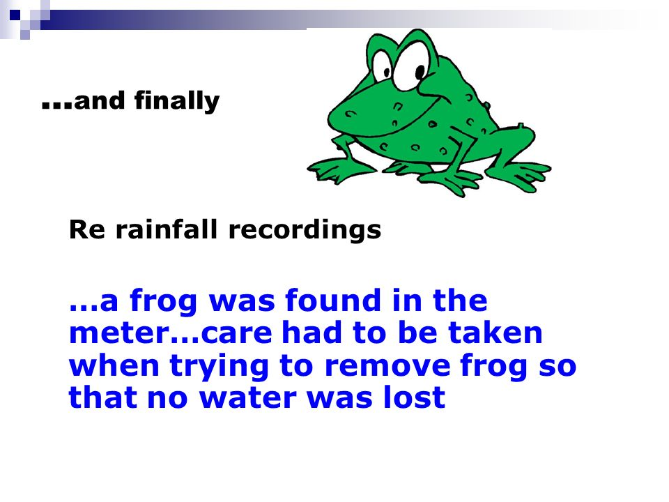…and finally Re rainfall recordings.