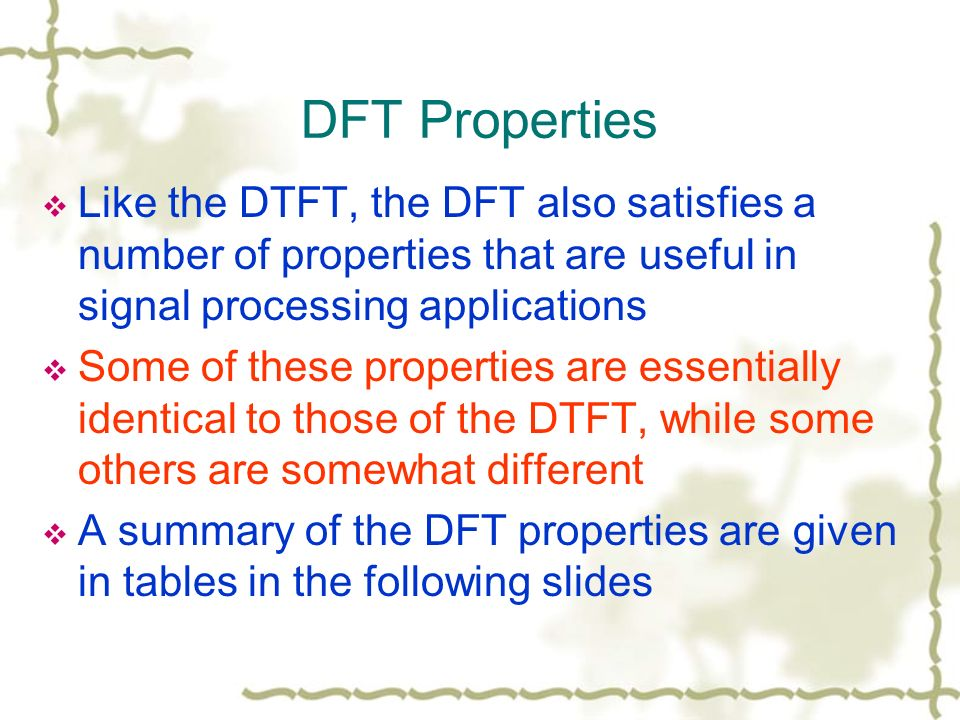 Digital Signal Processing Questions and Answers – Properties of DFT