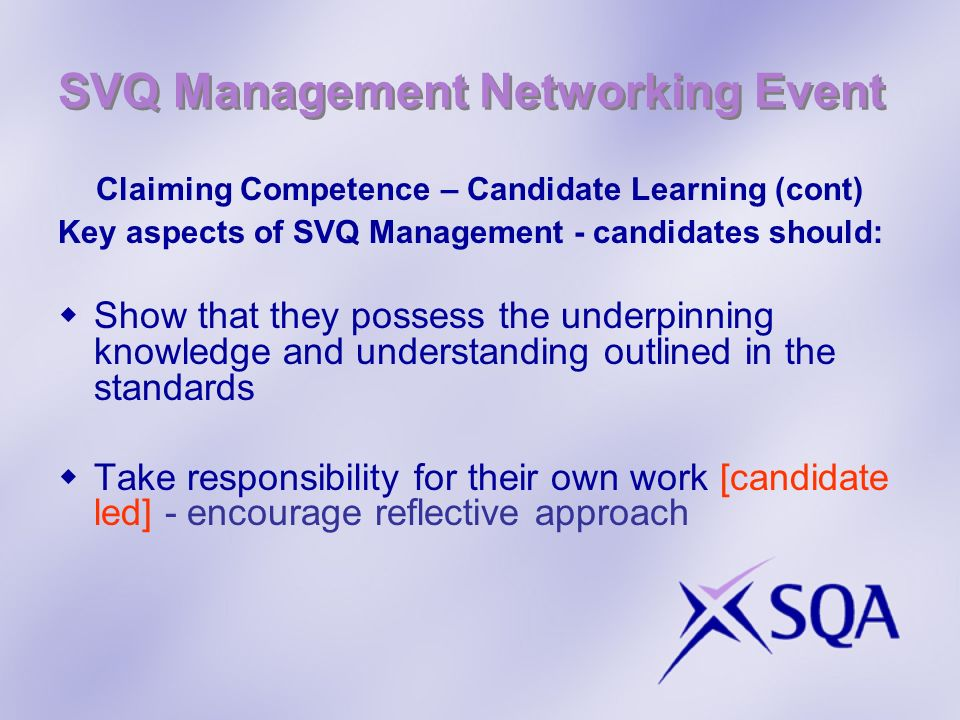 SVQ Management Networking Event