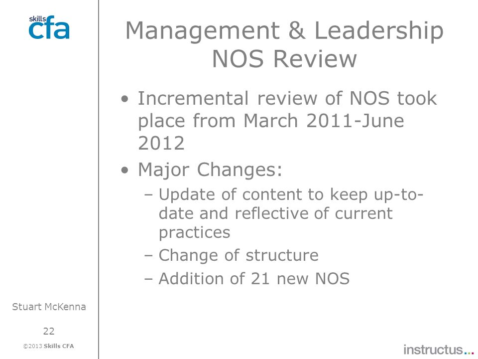 Management & Leadership NOS Review