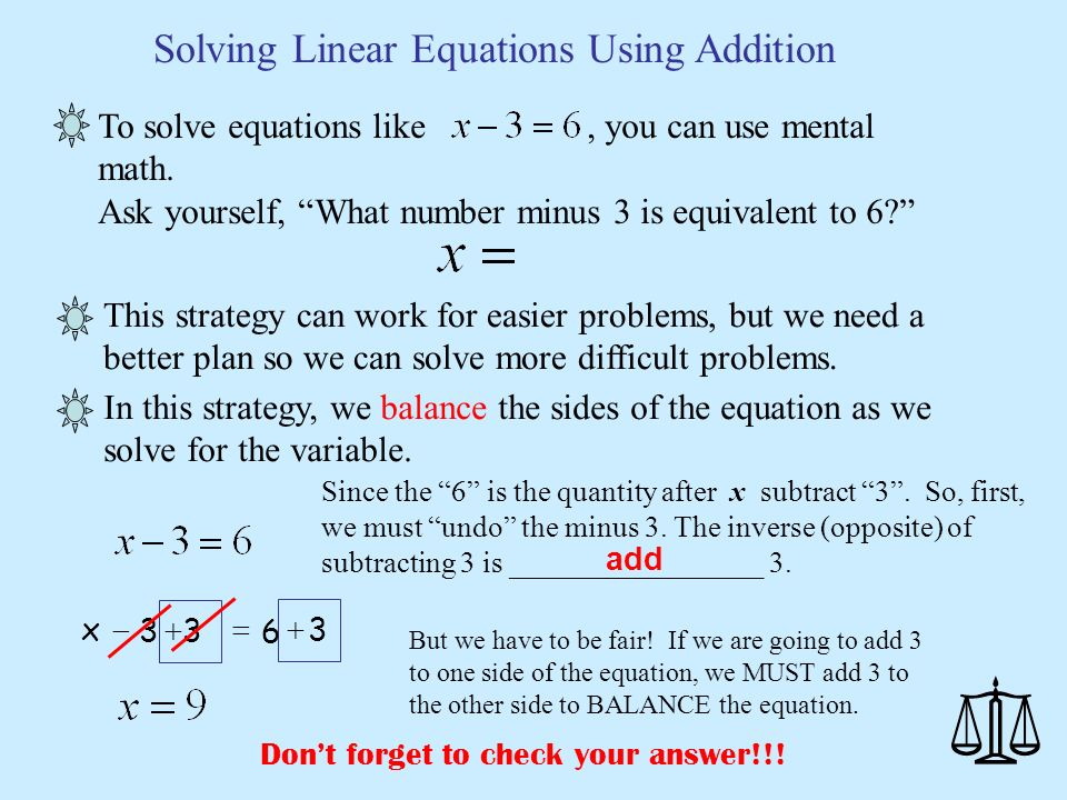 linear equation essays