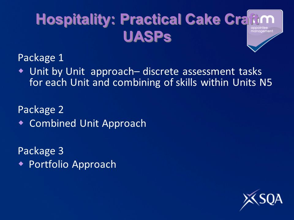 Hospitality: Practical Cake Craft UASPs