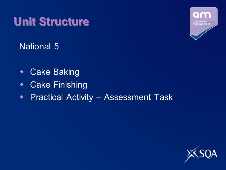 Unit Structure National 5 Cake Baking Cake Finishing