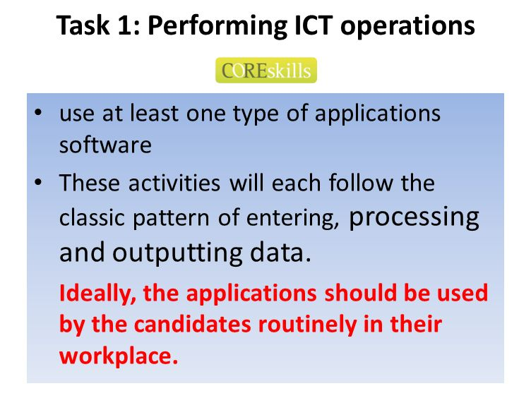 Task 1: Performing ICT operations