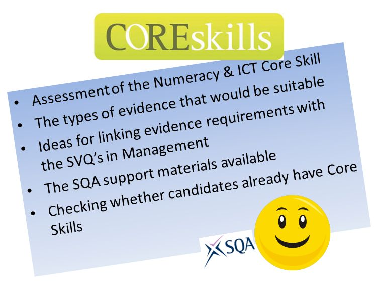 Assessment of the Numeracy & ICT Core Skill