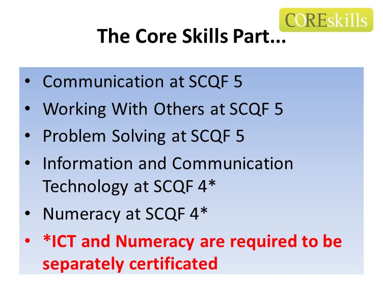The Core Skills Part... Communication at SCQF 5