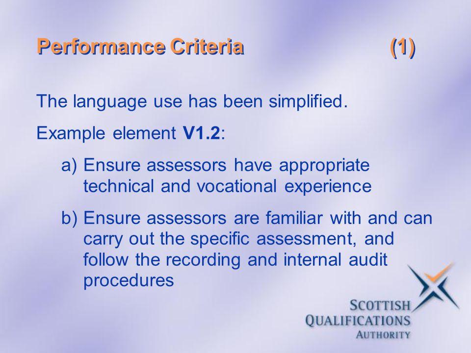 Performance Criteria (1)