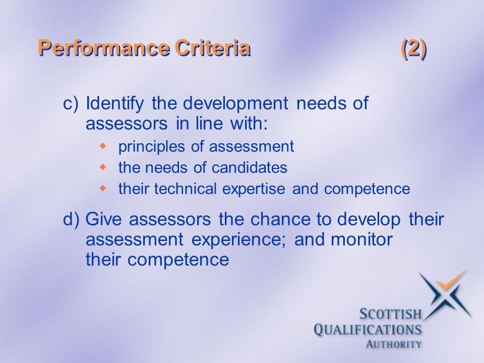 Performance Criteria (2)