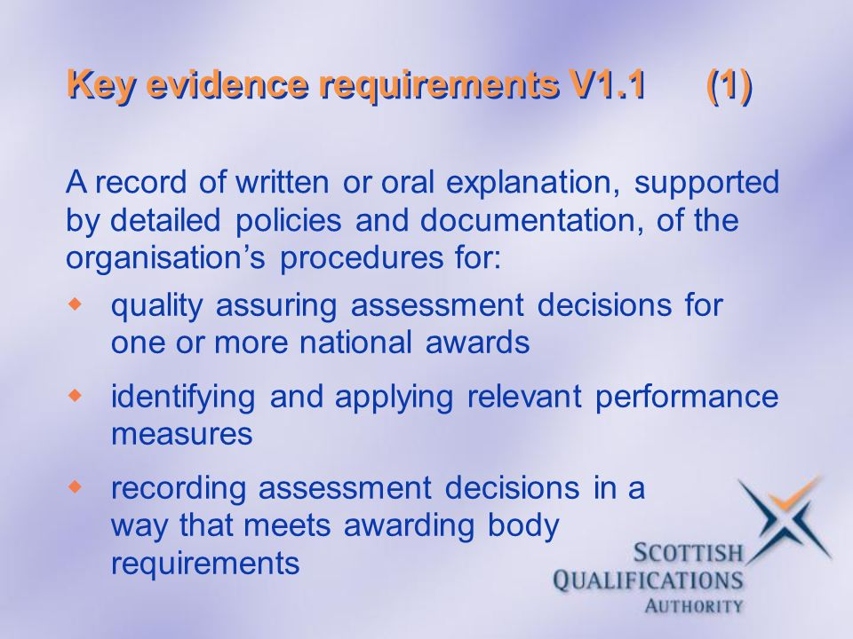 Key evidence requirements V1.1 (1)