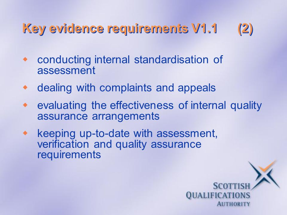 Key evidence requirements V1.1 (2)