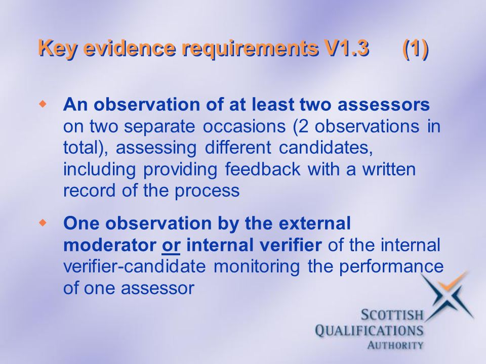 Key evidence requirements V1.3 (1)