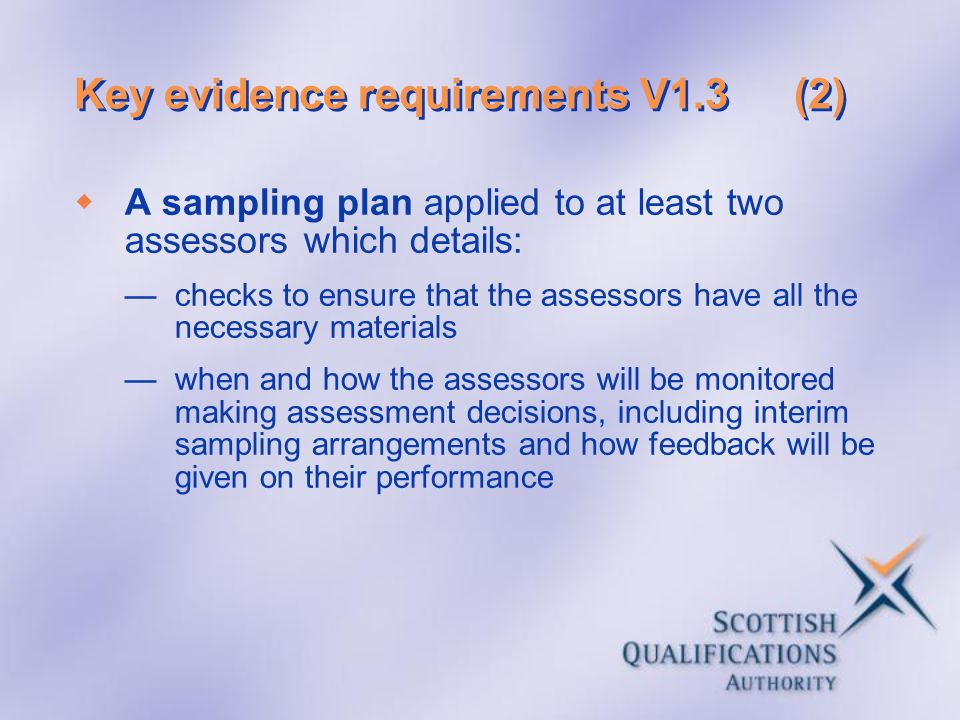 Key evidence requirements V1.3 (2)