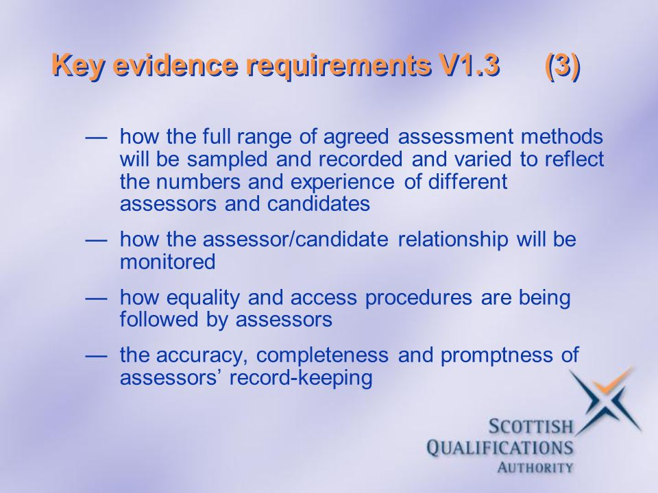 Key evidence requirements V1.3 (3)