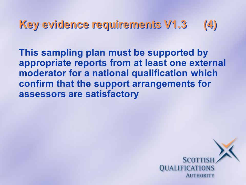 Key evidence requirements V1.3 (4)