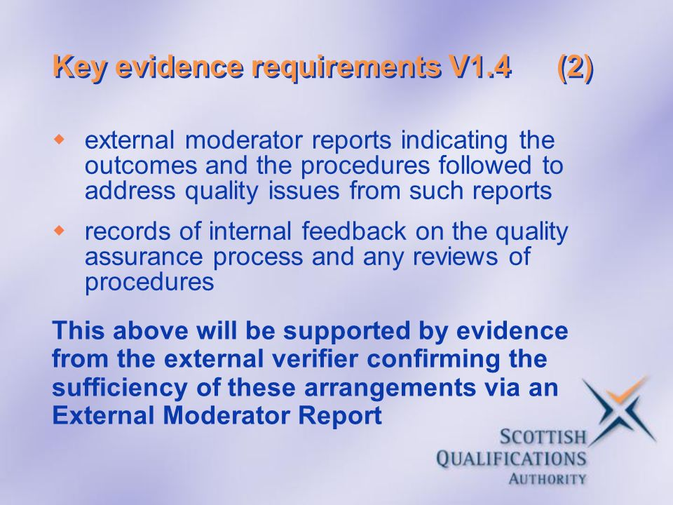 Key evidence requirements V1.4 (2)