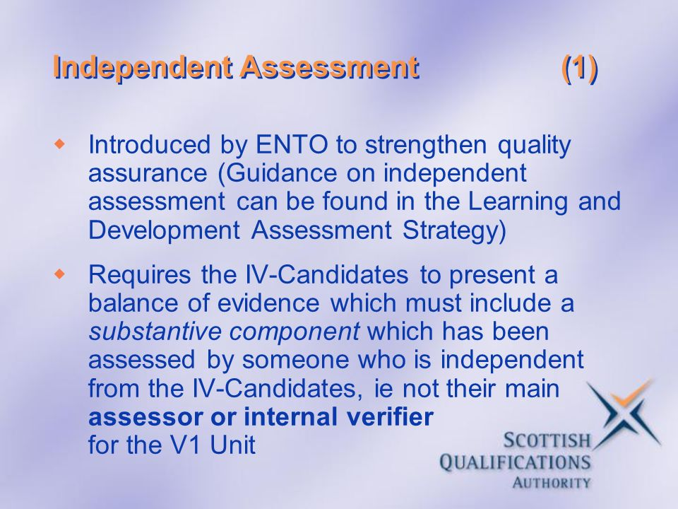 Independent Assessment (1)