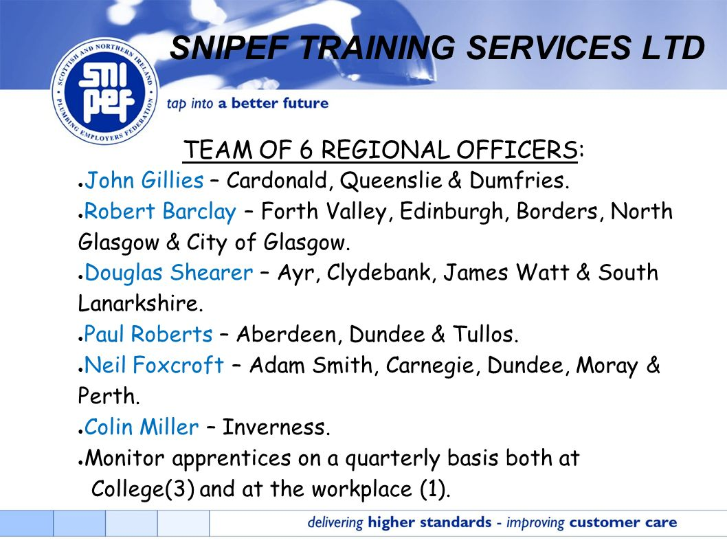 SNIPEF TRAINING SERVICES LTD