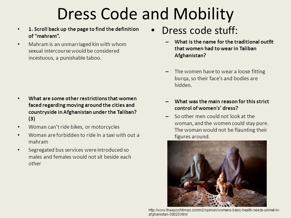 part in what should our role be ppt  7 dress code and mobility