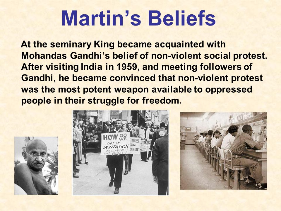 mohandas gandhi vs martin luther king Gandhi vs king essays mohandas gandhi and martin luther king jr were civil  right activists who took a form of action to obtain equal rights amongst their.