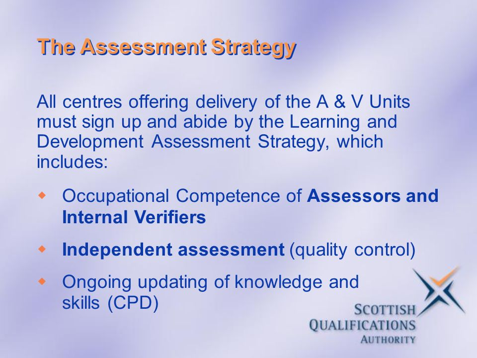 The Assessment Strategy