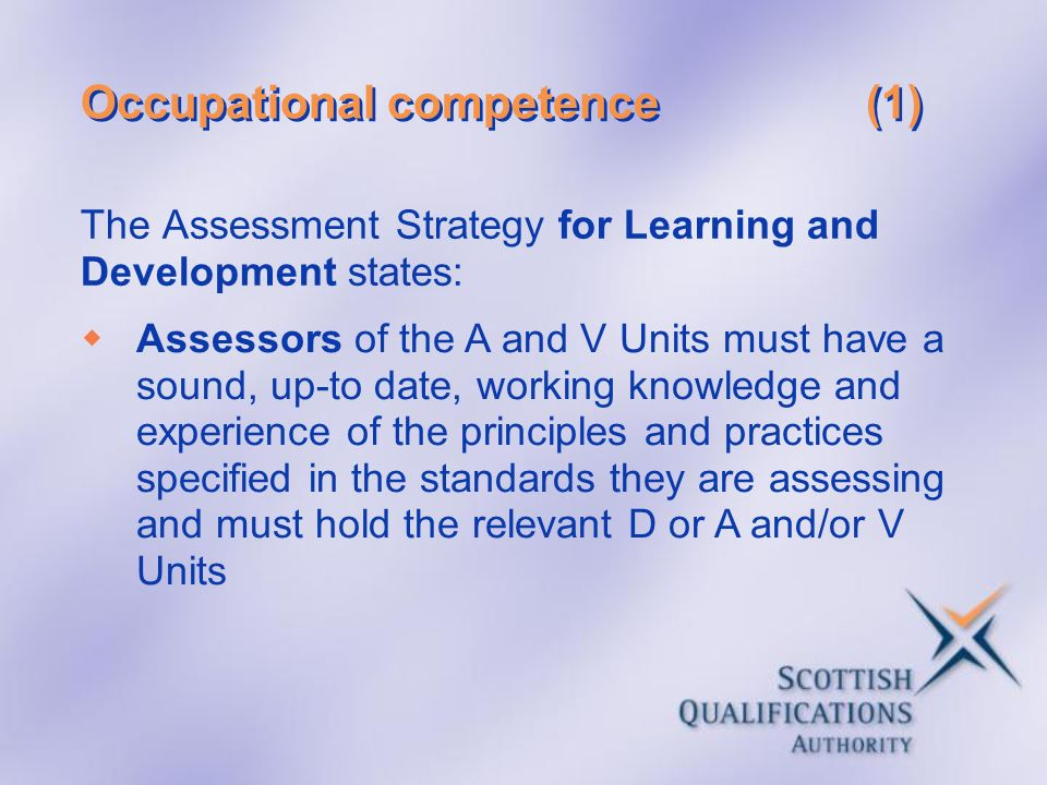 Occupational competence (1)