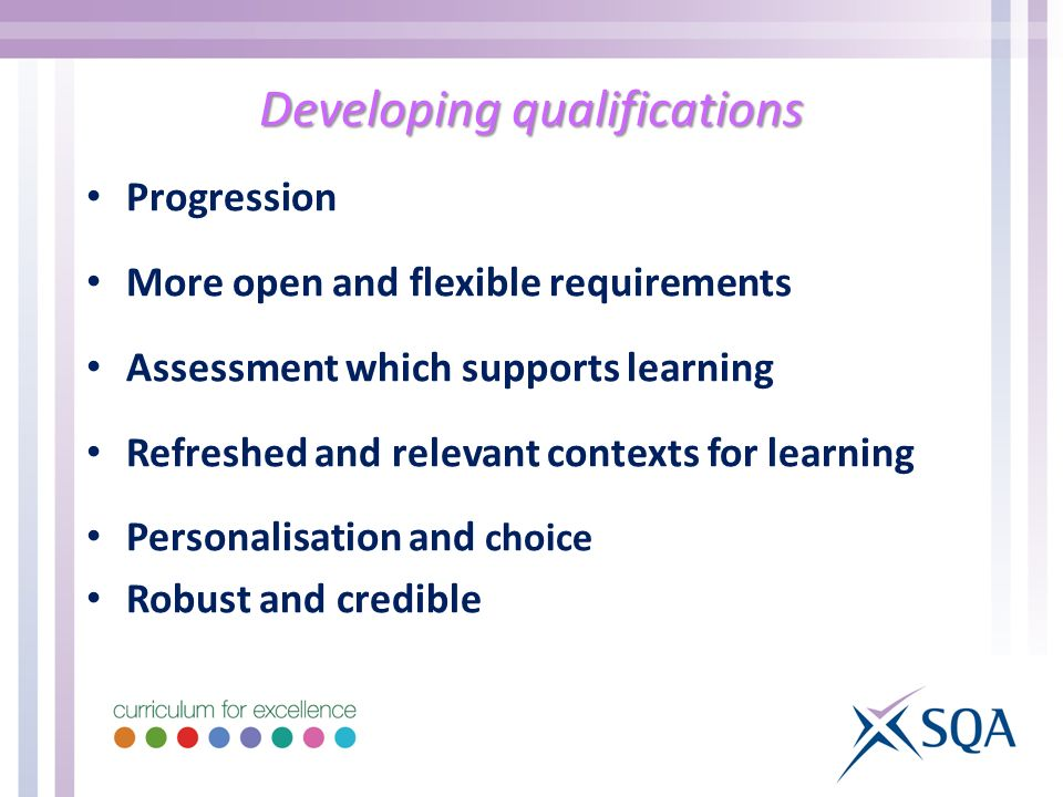 Developing qualifications
