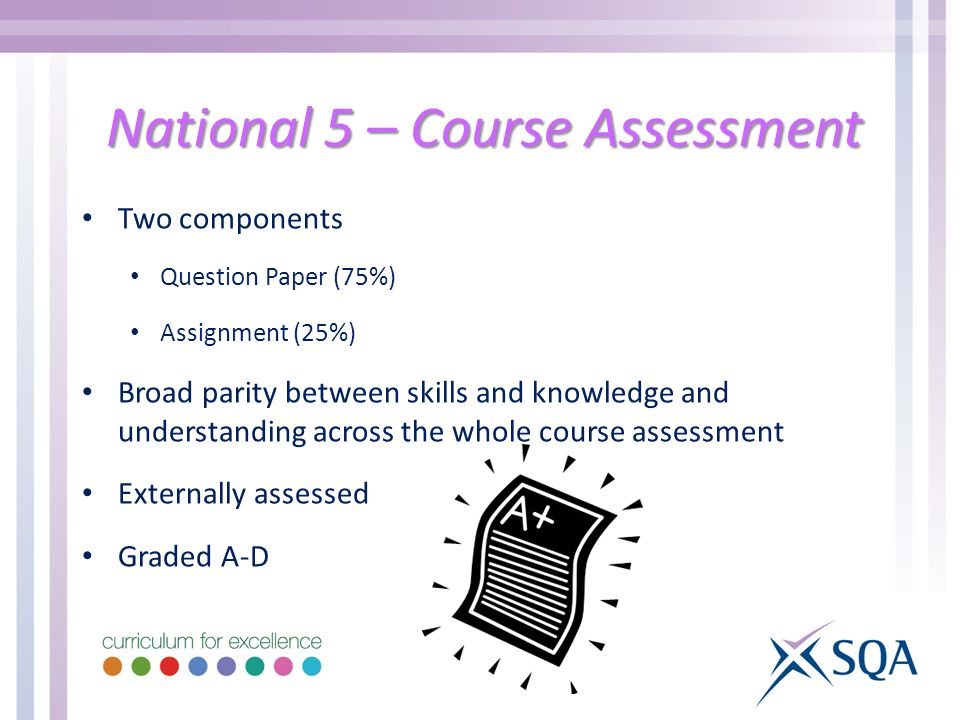 National 5 – Course Assessment