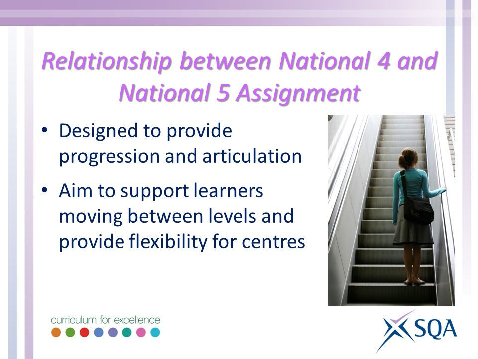 Relationship between National 4 and National 5 Assignment