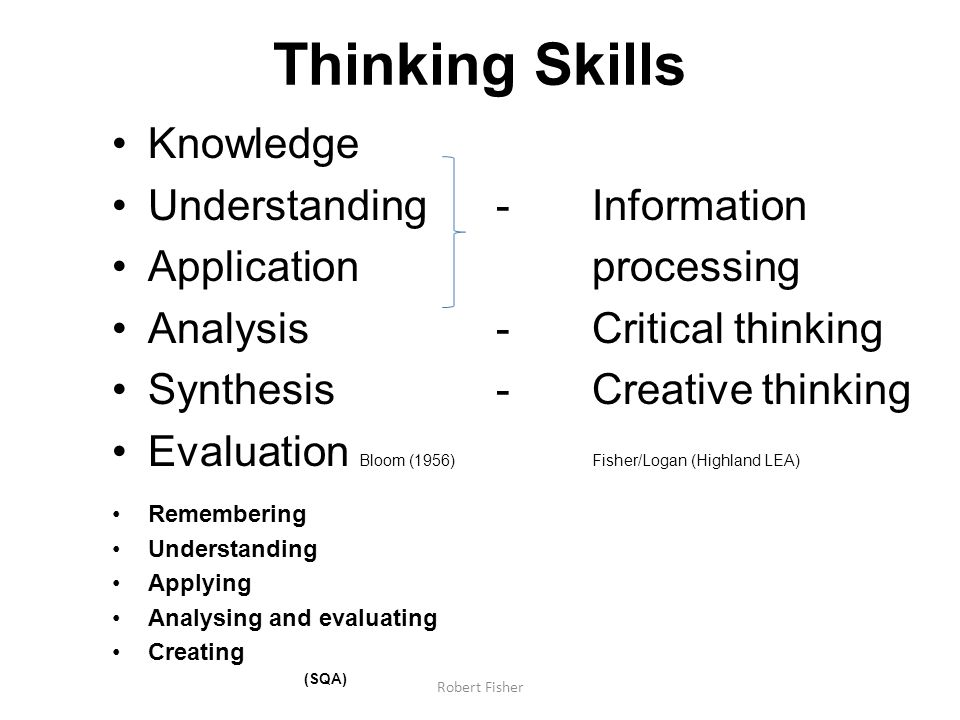 Thinking Skills Knowledge Understanding - Information
