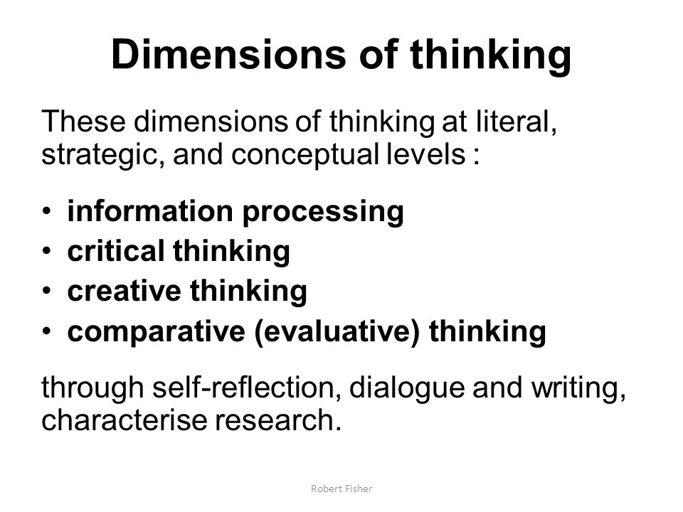 Dimensions of thinking