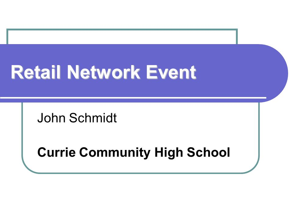John Schmidt Currie Community High School
