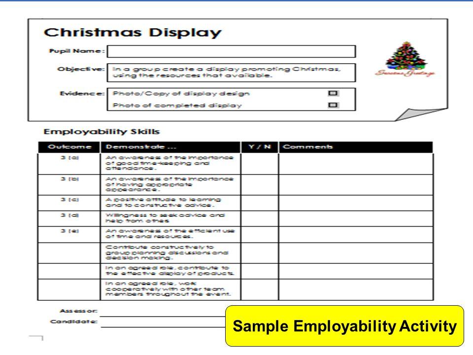 Sample Employability Activity