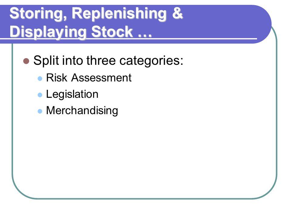 Storing, Replenishing & Displaying Stock …