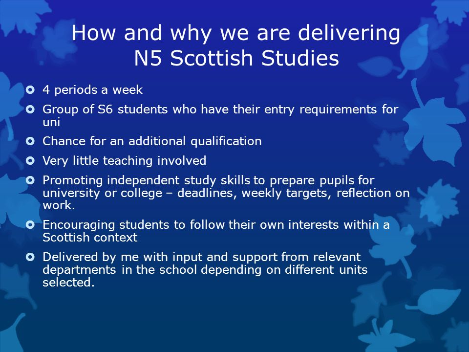 How and why we are delivering N5 Scottish Studies