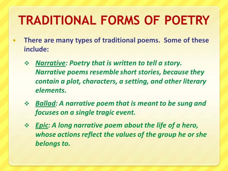 how to write a traditional poem
